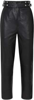 SET Leather Belt Trousers