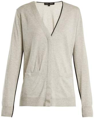 Proenza Schouler V-neck piped-edge cotton-blend cardigan