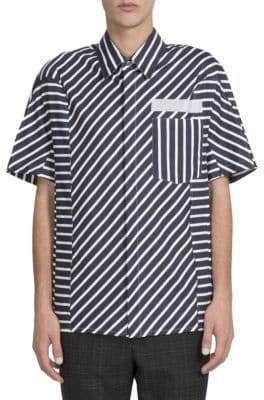 Lanvin Multi-Directional Striped Shirt