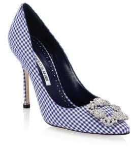 Manolo Blahnik Hangisi 105 Gingham Pumps