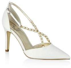 Adrianna Papell Aurora Satin Pearl-Embellished Pumps