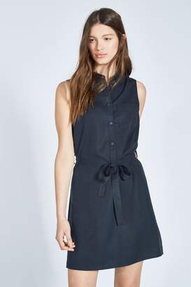 Jack Wills Womens Navy Ruckhall Sleeveless Shirt Dress - Blue