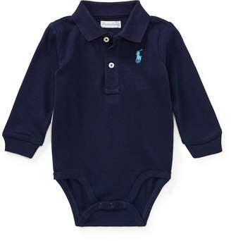 Ralph Lauren Cotton Jersey Polo Bodysuit