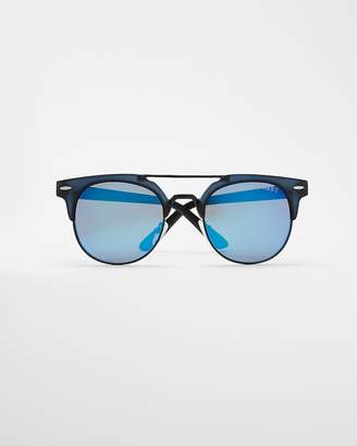 Express Blue Tinted Browline Sunglasses