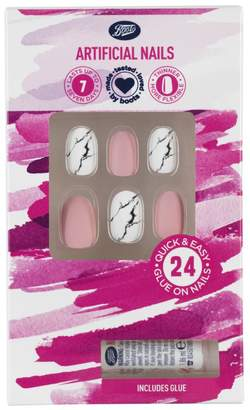 Boots Artificial Nails - Marble