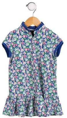 Polo Ralph Lauren Girls' Floral Print Short Sleeve Dress