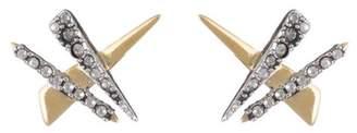 Alexis Bittar Crystal Encrusted Plaid Post Earring