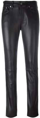 CK Calvin Klein skinny leather trousers