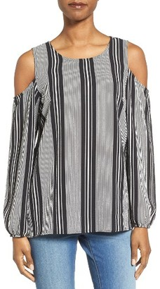 Women's Bobeau Cold Shoulder Blouse $52 thestylecure.com