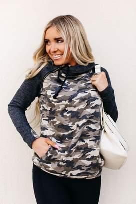 Ampersand Avenue DoubleHood Sweatshirt - Camo Accent