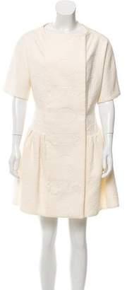 Giambattista Valli Gathered Jacquard Dress