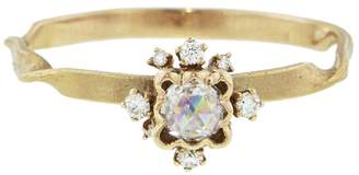 Kataoka Rose Cut Diamond Scalloped Frame Ring