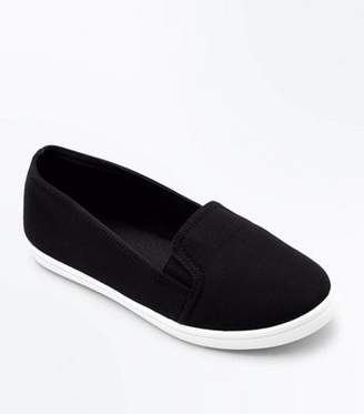New Look Teens Black Slip-On Trainers