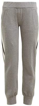 Norma Kamali Side Striped Stretch Cotton Track Pants - Womens - Grey