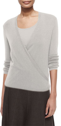 NIC+ZOE 4-Way Lightweight Cardigan, Silver Cloud $98 thestylecure.com