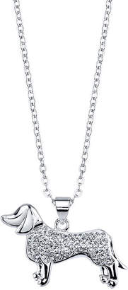 clear SPARKLE ALLURE Sparkle Allure 6227 Crystal Kingdom Critter Set Aug 2017 Womens Silver Over Brass Pendant Necklace