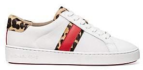 f8b4285d54cd MICHAEL Michael Kors Women s Irving Stripe Leopard Calf Hair  Leather  Sneakers