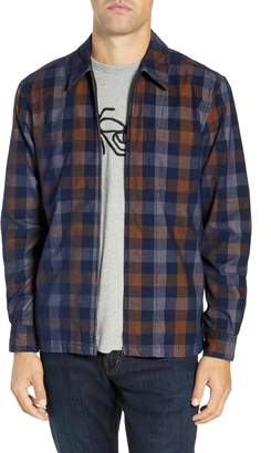 French Connection Regular Fit Plaid Dobby Corduroy Shirt Jacket