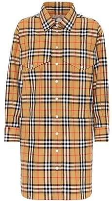 Burberry Check cotton shirt dress