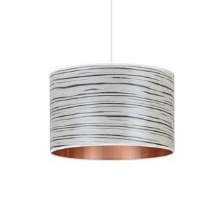 Storm Furniture - White Stripe Veneered Drum Shade