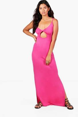 boohoo Eloise Twist Front Cut Out Maxi Dress