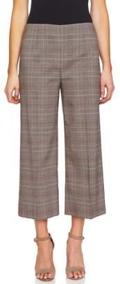 CeCe Glen Plaid Straight Leg Pants