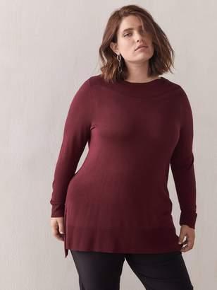 Hi-Low Boatneck Sweater - Addition Elle
