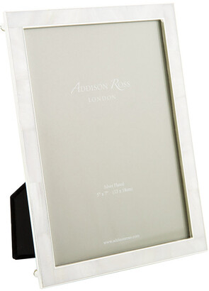 """Mother of Pearl Addison Ross - Cream & Silver Photo Frame - 5x7"""""""