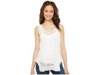 Johnny Was Hoxie Eyelet Tank Top Women's Sleeveless