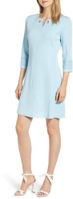 Ming Wang Grommet Detail A-Line Dress