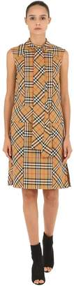 Burberry Sleeveless Check Cotton Shirt