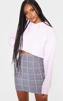 PrettyLittleThing Grey Check Mini Skirt