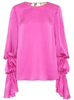 Roksanda Nezu silk satin top