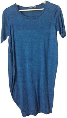 Cos Blue Linen Dress for Women