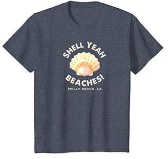Holly Beach LA Shell Yeah Beaches! T-Shirt Summer Tee