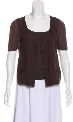 Max Mara Linen Knit Short Sleeve Top