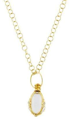 Temple St. Clair Rock Crystal & Diamond Amulet Necklace