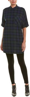 Armani Exchange Plaid Shirt Dress