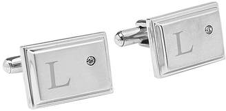 Asstd National Brand Personalized Zircon Jewel Stainless Steel Cufflinks