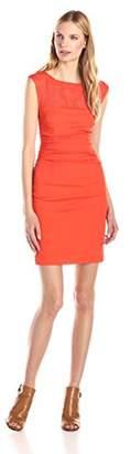Tracy Reese Women's Silk Inset Sheath Dress,8
