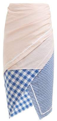 Marysia Swim Gingham Patchwork Sarong Skirt - Womens - Multi