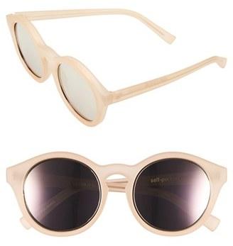 Women's Le Specs 'Edition Four' 51Mm Sunglasses - Matte Blush/ Gold $125 thestylecure.com