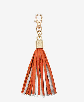 GiGi New York Tassel Bag Charm, Orange and White