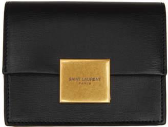 Saint Laurent Black Bellechasse Business Card Case