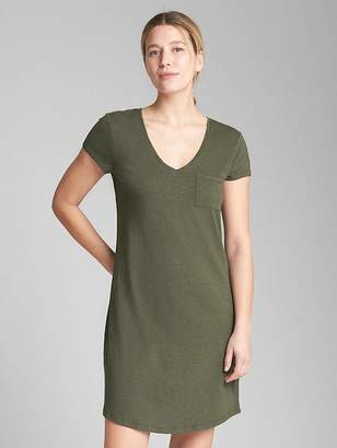 Gap Short Sleeve Pocket T-Shirt Dress