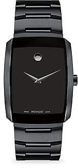 Movado Eliro Rectangular Black PVD Bracelet Watch