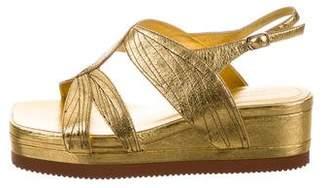 Dries Van Noten Metallic Platform Sandals w/ Tags