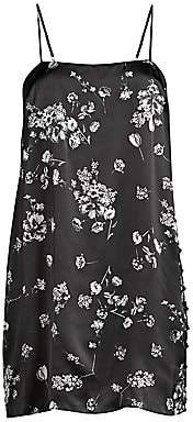 CAMI NYC Women's Cherie Silk Floral Mini Slip Dress