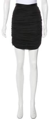 Balmain Ruched Knee-Length Skirt
