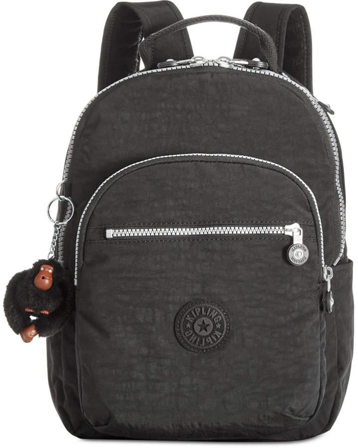 Kipling Seoul Go Large Backpack - BLACK/SILVER - STYLE